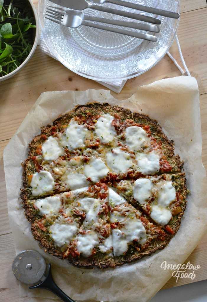 Pizza crust courgette megalowfood