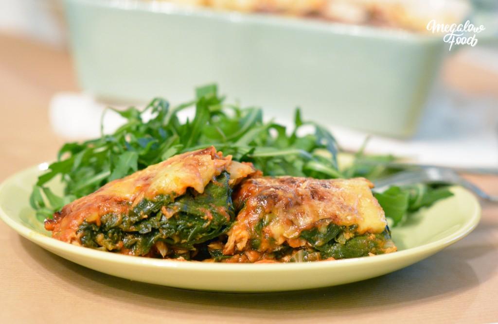 Gratin de blettes à la tomate et au thon Megalow Food