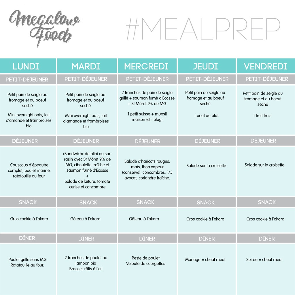 MEAL PLAN MEGALOWFOOD SEM04