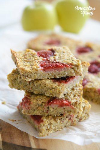 Carrés amande fraises Megalowfood